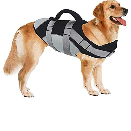 Schwimmweste Für Hunde, Hervorragende Hundeschwimmweste Reflektierend Rettungswesten Für Hunde Mit...