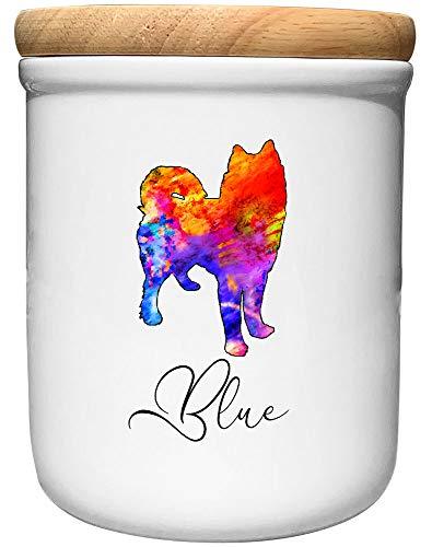 Cadouri Keramik Leckerli-Dose Husky » personalisiert mit Name deines Hundes «┊Snackdose Keksdose...