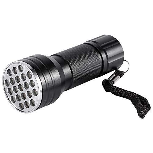Yyqtgg Solide UV-Taschenlampen, Schwarzlicht-Taschenlampe, Aluminiumgehäuse aus Aluminiumlegierung.