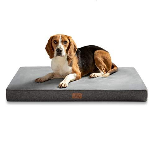 Bedsure orthopädische Hundekissen große Hunde - Flauschiges Hundebett waschbar mit Memory Foam,...