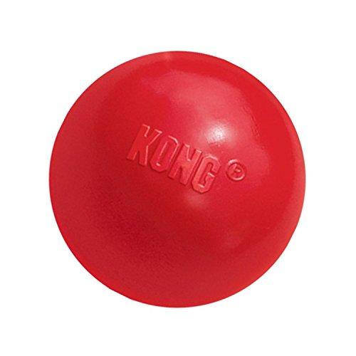 KONG – Ball with Hole – Apportierspielzeug aus Robustem Kautschuk – Für Kleine Hunde