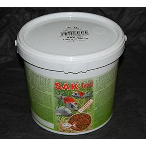 SAK Koi 3400 ml im Eimer - Schwimmfutter für Koikarpfen Karauschen Goldfische - Koifutter Teichfutter