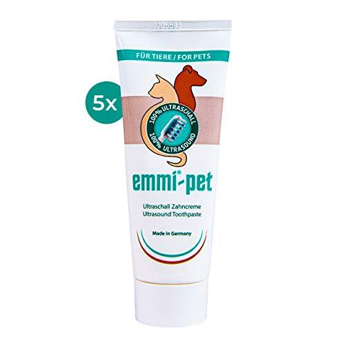 Emmi-pet 5X Hundezahncreme für Ultraschallzahnbürste – für alle Hundegrößen