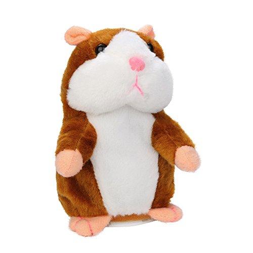 DSPKOhG Sprechender Hamster Plüsch Spielzeug Wiederholt was Sie Sagen Mimikry Haustier Elektronische...