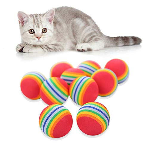 Sternenhimmel Spielzeuge Bälle Kätzchen Aktivität Interaktives Katzenspielzeug Ball Bunte...