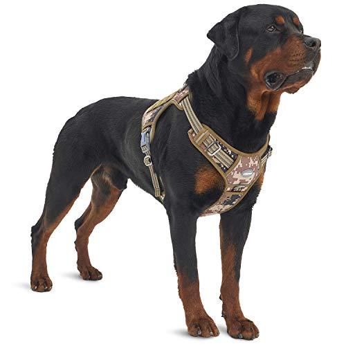 Auroth Taktisches Hundegeschirr, kein Ziehen, mit Clip an der Vorderseite, reflektierend, K9...
