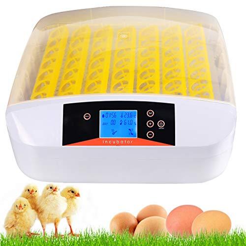 Vollautomatische Inkubator, Brutmaschine für bis zu 56 Hühnereier Brutapparat mit LED Temperaturanzeige...