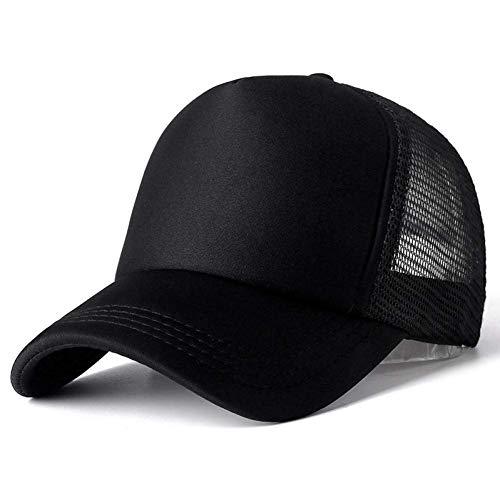 Baseballmütze Unisex-Mütze Casual Plain Mesh Baseballmütze Verstellbare Hysteresenhüte für Frauen...