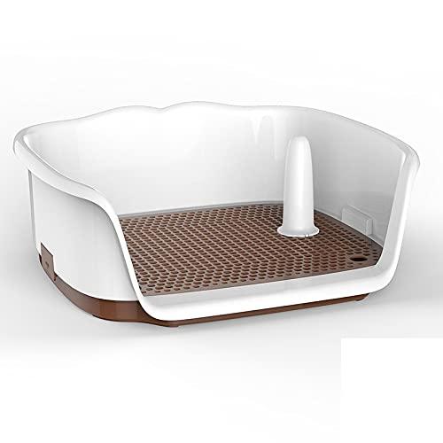 XKMY Haustiertoilette für den Innenbereich, tragbar, Kunststoff, doppellagig, für Katzen, Welpen,...