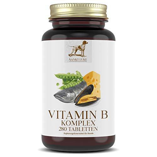 SANKT LUKE Vitamin B Komplex Hunde Katzen, 6 bis 12 Monate Vorrat, Hochdosierte Vitamine für Hunde,...