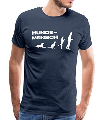 Martin Rütter Hundemensch Männer Premium T-Shirt, M, Navy