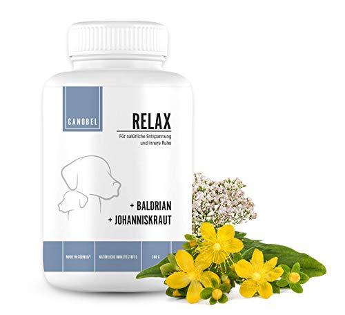 Canobel Relax - Natürliches Beruhigungsmittel für Hunde gegen Angst, Stress oder Unruhe zur...