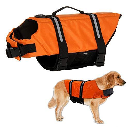Warmiehomy Hundeschwimmweste Schwimmweste für Hund Reflektierend Rettungswesten Schwimmtraining für...