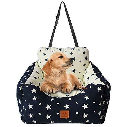 Arkmiido Autositz für klein Hunde/Katze, Sicherheitssitz für Haustiere, Waschbares Haustierbett,...