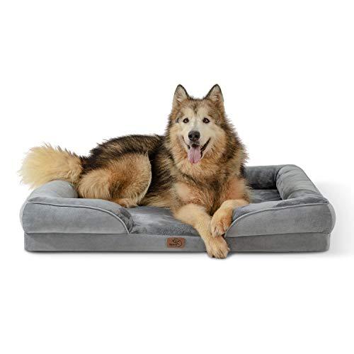 Bedsure orthopädisches Hundebett Ergonomisches Hundesofa - Hundecouch mit eierförmiger Kistenschaum...