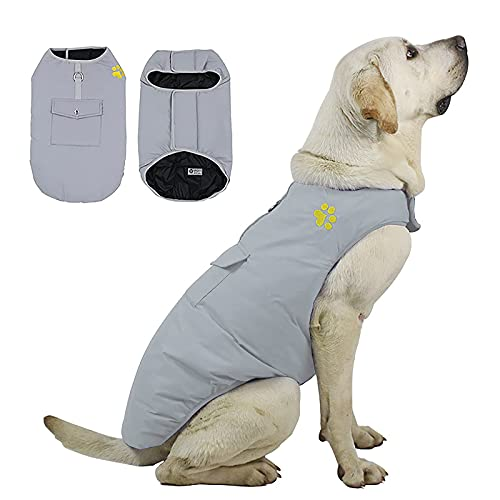 Hundekleidung Weste Hund Polyester Warme und Bequeme Hundeweste Freizeit Pet Mantel doppelseitige...