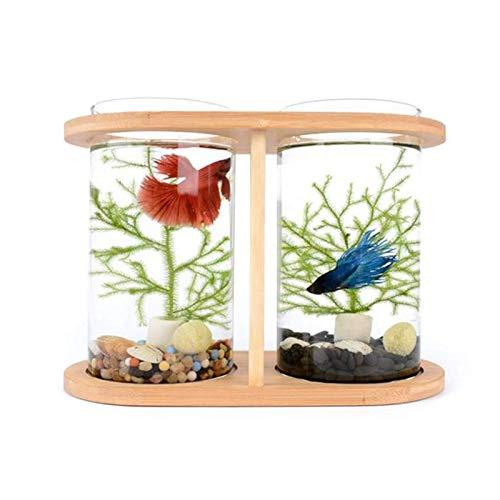 MUMUCW Aquarium Mini ökologische Living Goldfisch Tank Zimmer aus gehärtetem Glas Büro Desktop...