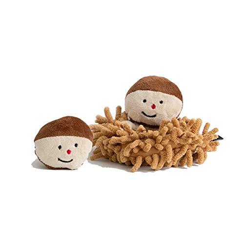 Kelong Gemüse-Serie Hundespielzeug, Kastanie und Maisform, weiches Plüsch-Spielzeug,...