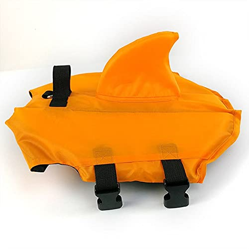 KIFFAY Haustier Hund Schwimmweste Hund Sommer Schwimmen Hai Form Weste Sicherheitskleidung Hundeweste...