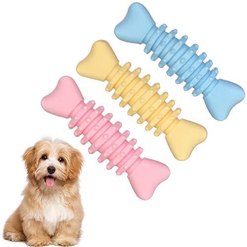 Firtink 3 Stück Hundespielzeug Kauspielzeug unzerstörbares Hundespielzeug Zahnreinigung für Welpen,...