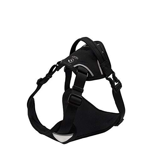 MICHUR Rocky Hunde BRUSTGESCHIRR schwarz, Nylon Hundegeschirr, Hundegeschirr, Schwarz, verstellbar,...