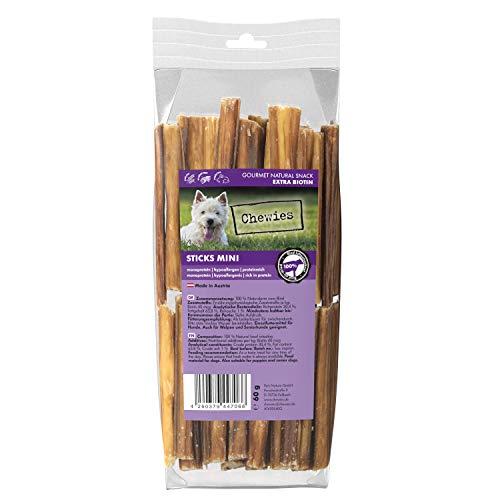 Chewies Sticks Mini Rind Kaustangen - Hundeleckerli für große und kleine Hunde, wie Spaghetti Leckerlie...