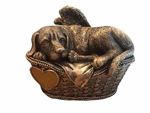 Monello Hundeurne Hund in Körbchen - bis ca. 16 kg - ca. 1,2 ltr. - Tierurne Urne für Hunde als...