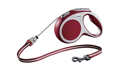 flexi Roll-Leine Vario M Seil 5 m rot für Hunde bis max. 20 kg