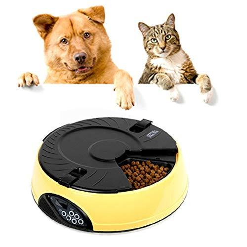 othulp Futterautomat Hunde Futterautomat Katze Timer Katzenfutter Lagerung Trockenfutterspender für...