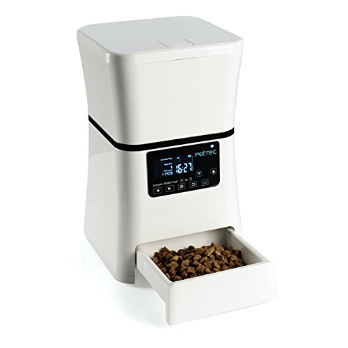PetTec Futterautomat mit Timer | 2,5 KG/5L Trockenfutter | für Hund & Katze | Programmierbarer...