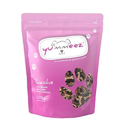 Yummeez Lachs Leckerli - Hundeleckerli als kleine Knöchelchen - getreidefrei mit hohem Fleischanteil -...