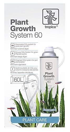 Tropica System 60 - CO2 Set Anlage - Düngung für Pflanzen bis 60l Nano Aquarien