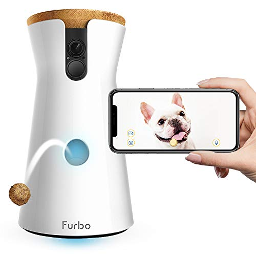 FURBO HUNDEKAMERA: Full HD WiFi Haustierkamera mit Leckerli Ausgabe, 2-Wege-Audio, Nachtsicht und...