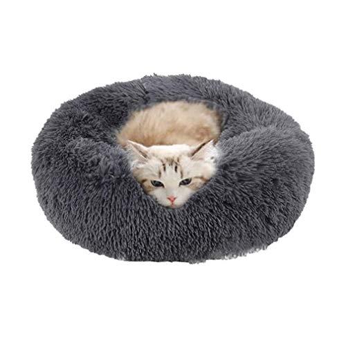 Cozywind Hundebett Flauschig, rundes Haustierbett Hundekissen Hundesofa Katzenbett Donutform weiches...