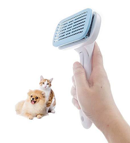 Hundebürste & Katzenbürste Selbstreinigende Haustierpflegebürste Haustier Zupfbürste für Hunde &...