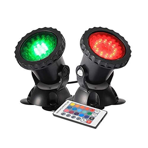 GreenSun Gartenteich Lampe RGB Aquarium Licht 4W Unterwasserlicht 36 Leds Unterwasserleuchte 2 in 1...