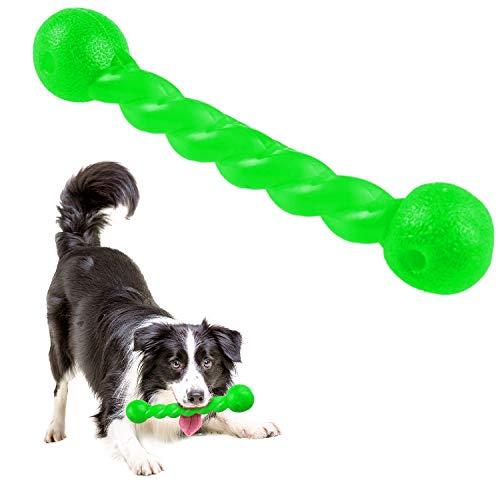 Qianyou Hundespielzeug für Zähne, Gummi Spirale Kauknochen Ungiftig Unzerstörbar Hundemolarenstab...
