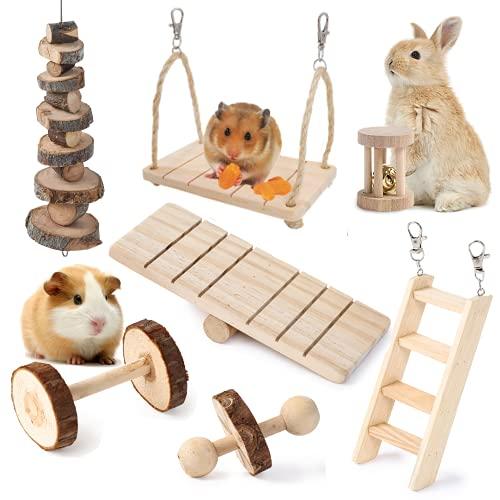 JanYoo Hamster-Kauspielzeug, Natürliches Holz Kaninchen Meerschweinchen Zahnpflege Molar...