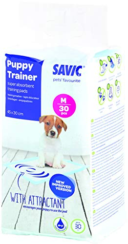 Savic Ersatzpads für Puppy Trainer-Hundetoilette, Größe M, 45 x 30 cm, 30 Stück