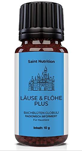 Saint Nutrition® LÄUSE & FLÖHE Plus Globuli als Hilfe beim Laus & Floh Befall, für Katzen und Hunde...