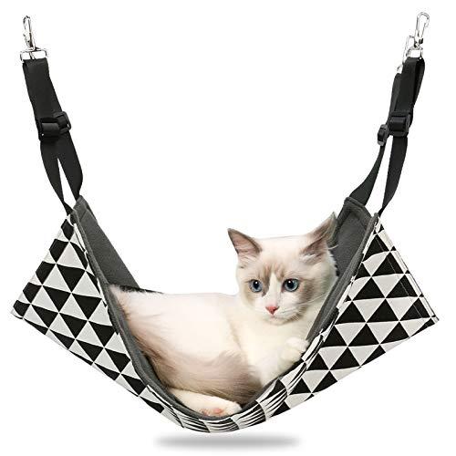 SearchI Hängematte für Katze Haustier kurz Plüsch Käfig Katzenhängematte Hängendes Bett für...