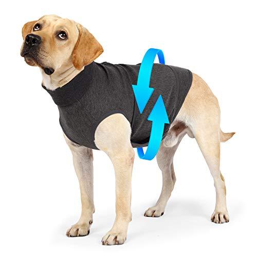 Dliomimt Hunde Anti Angst Jacke Hund Beruhigungsmantel Haustier Stressabbau Hemd Warme Beruhigungsweste...