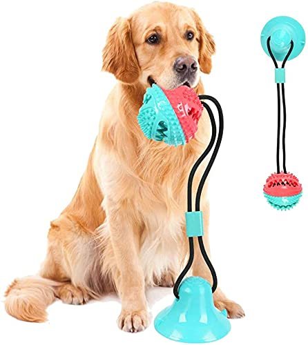 Saugnapf Hundespielzeug, Pet Molar Bite Toy, Hundekauspielzeug, interaktiver Pet Treat Ball für Kauen...