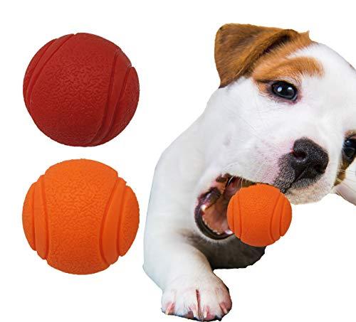 Pet Touch Robuster Gummiball mit festem Kern, sehr hüpfend, unzerstörbar, robustes Hundespielzeug,...