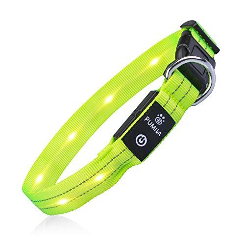 PcEoTllar LED Hundehalsband Leuchthalsband Wasserdicht Leuchten Hundehalsband USB Wiederaufladbare...