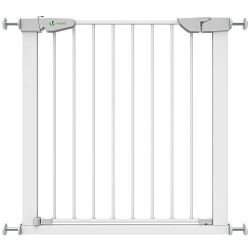 VOUNOT Treppenschutzgitter 76–84cm, ohne Bohren, Türschutzgitter für Kinder, Hunde und Katzen,...
