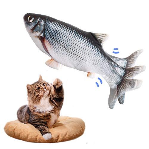 LIUMY Katzenspielzeug Fisch, Katzenminze elektrische Puppe Fisch, Simulation Elektrisch Spielzeug Fisch...