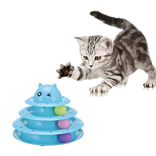 HUANGHUANG SOBW Interaktives Katzenspielzeug - Katzenspielzeug Intelligenzspielzeug Katzen- Dreifache...
