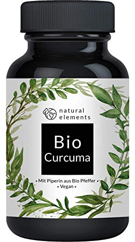 Bio Curcuma - 240 Kapseln - 4542mg (Bio Kurkuma + Bio schwarzer Pfeffer) pro Tagesdosis - Mit Curcumin &...