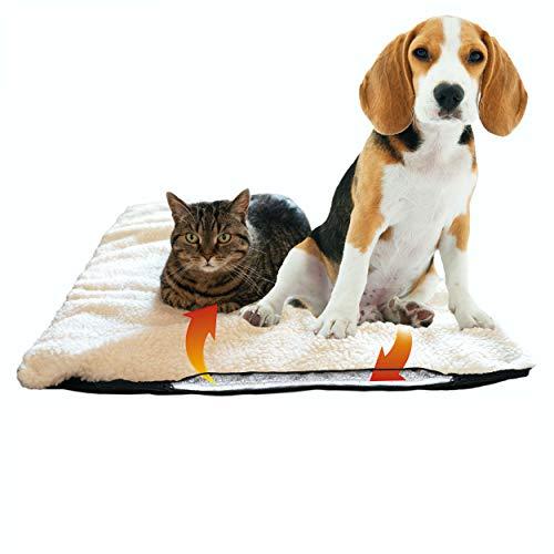 Selbstheizende Decke für Katzen & Hunde, Größe: 120 x 70 cm, Heizdecke waschbar, Wärmematte für...